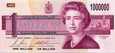 Canadian Million Dollar notes